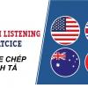 Luyện nghe bằng phương pháp nghe chép chính tả