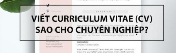 Viết CV tiếng Anh sao cho chuyên nghiệp?