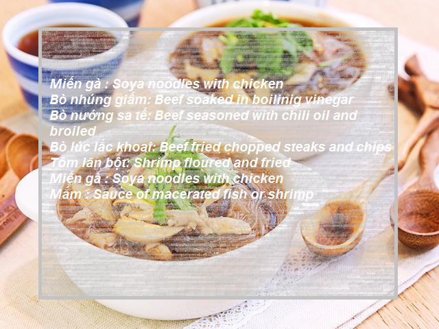Các món ăn Việt trong Tiếng Anh