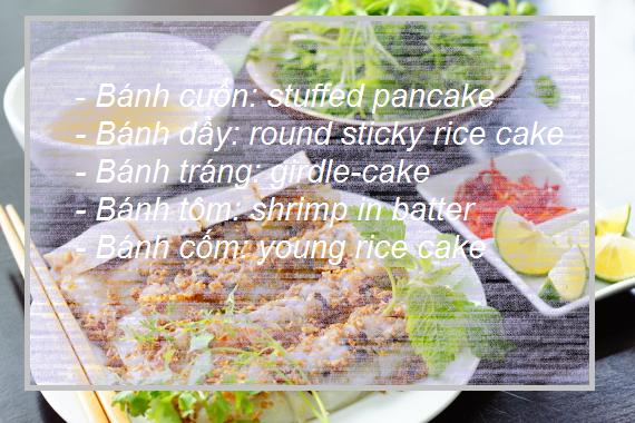 Các món ăn Việt trong tiếng Anh : món bánh - 1