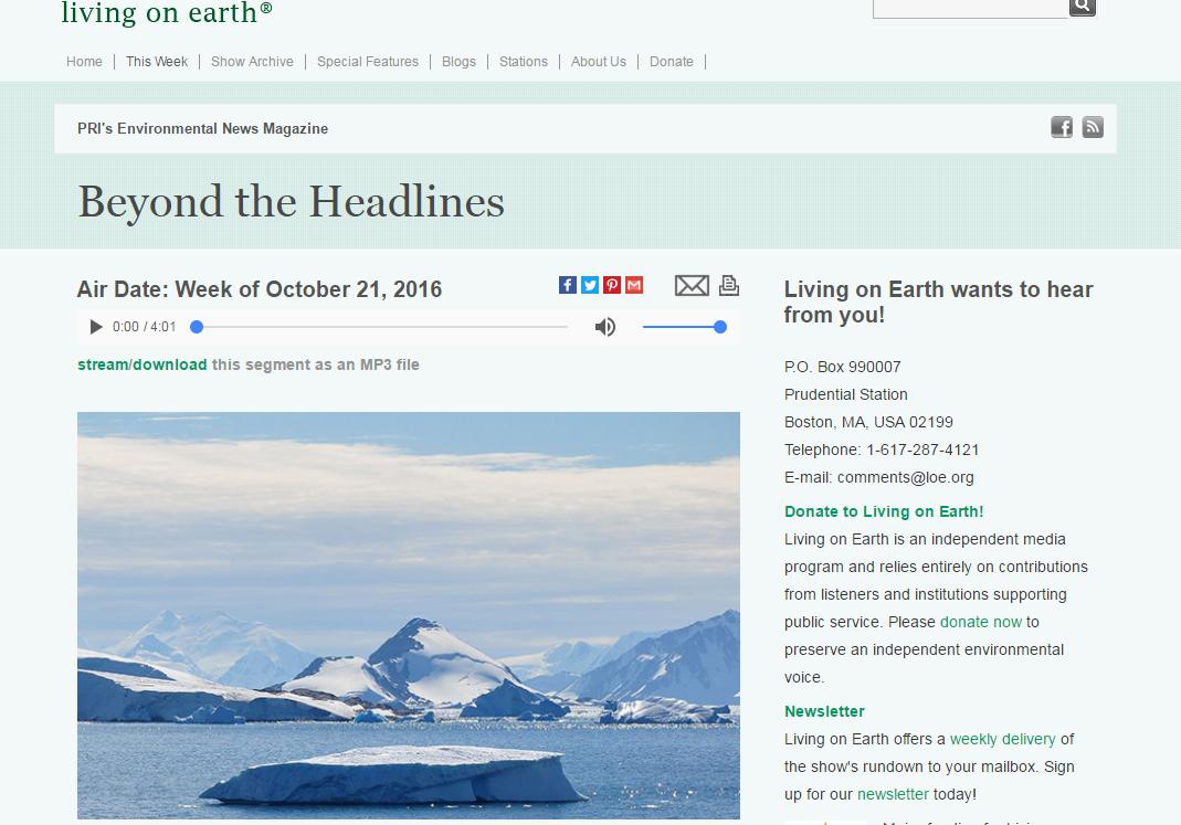 LoE : Living on earth : trang web luyện nghe chép chính tả kèm transcript về thiên nhiên